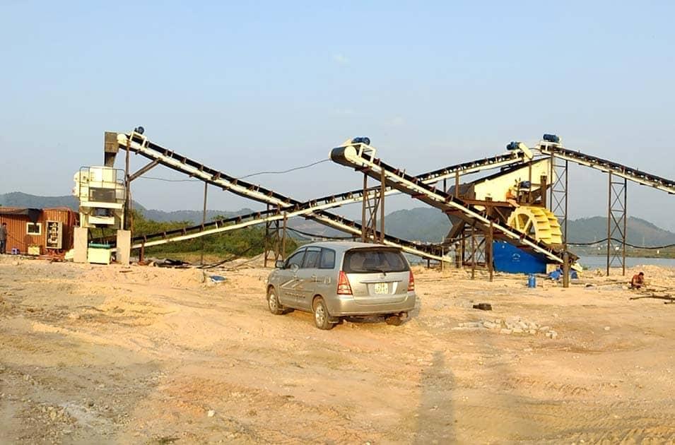 文莱河卵石制砂生产线