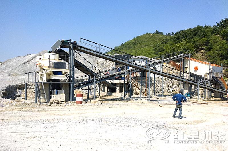 制砂机生产线现场图片