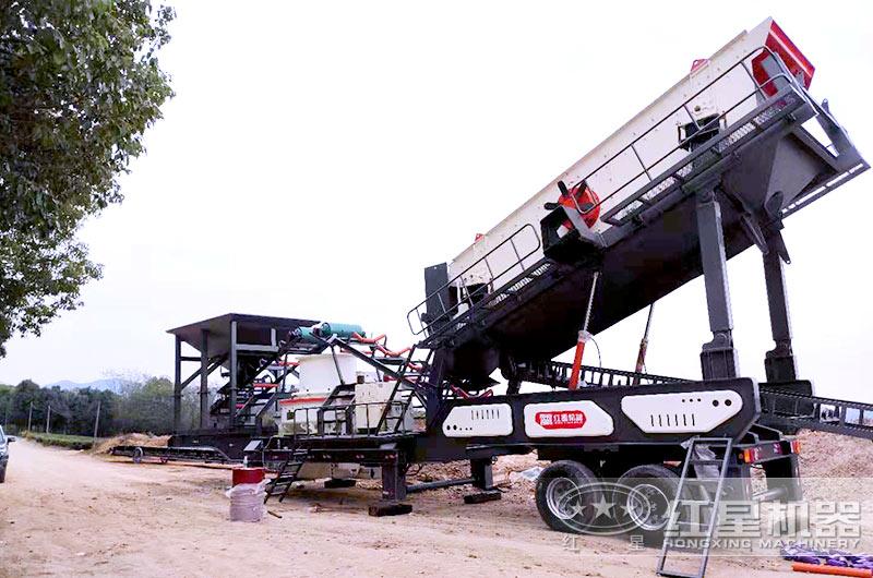 车载一体式制砂机加工生产车间