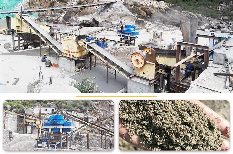 河卵石制砂作业现场