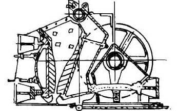 PEX颚式破碎机结构简图