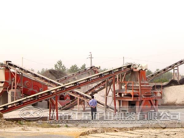 花岗岩制砂生产线现场