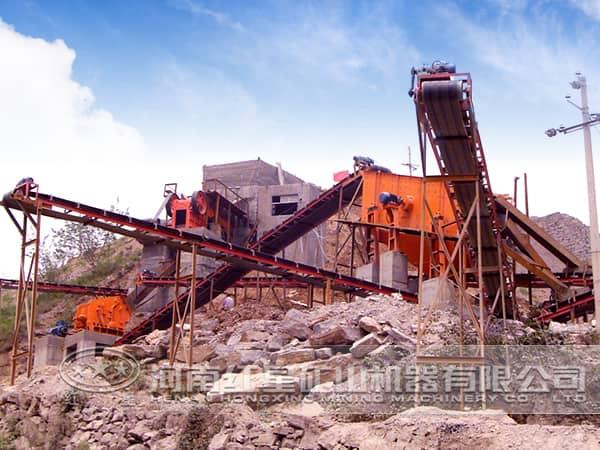钢渣破碎生产线的应用现场