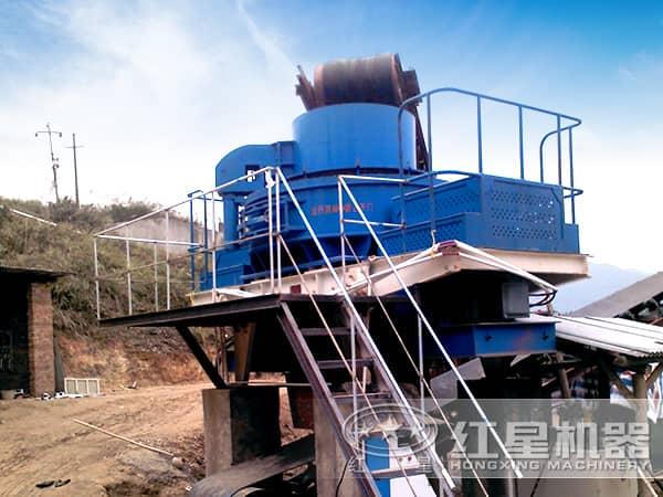 制砂机生产现场