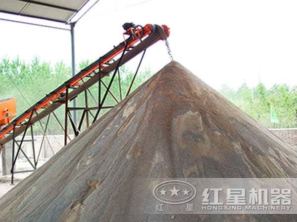 破碎制砂机处理后的成品砂石