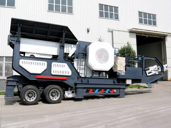 时产100-200吨硅灰石移动式破碎站