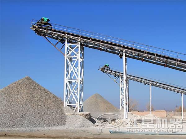 河卵石制砂生产线成品