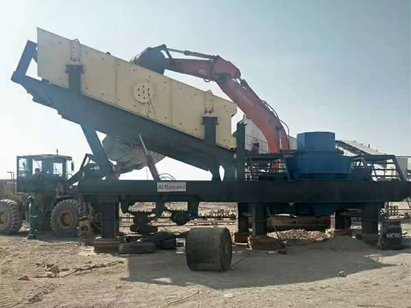 移动制砂机生产现场