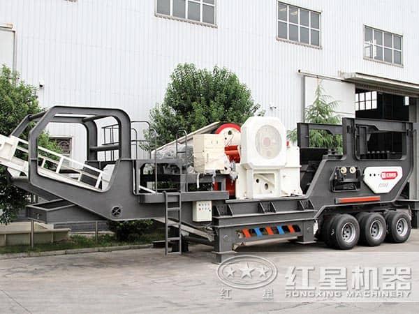 每小时产200吨煤矸石移动碎石机