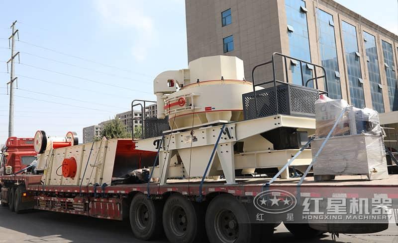 河卵石制砂机整套设备发货中