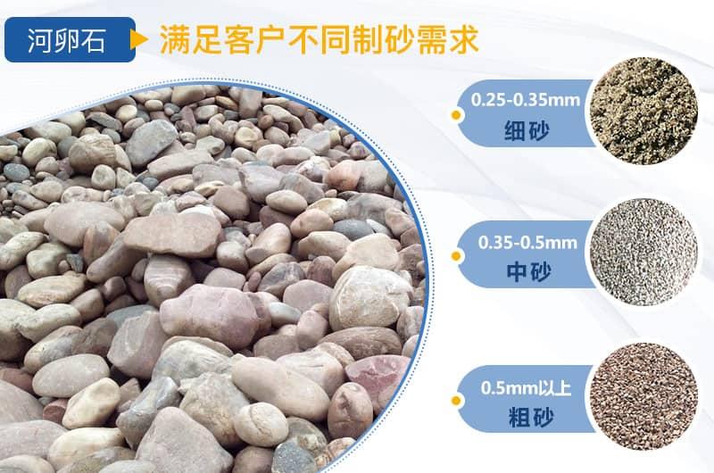 河卵石制砂不同规格