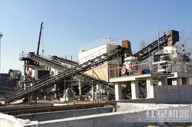 时产500吨大型沙石料生产线现场图片
