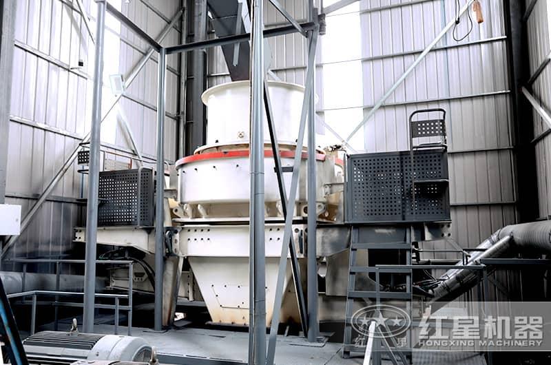 河南登封客户大型石子制砂机生产现场