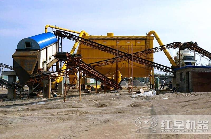 保定客户大型石子制砂机生产现场