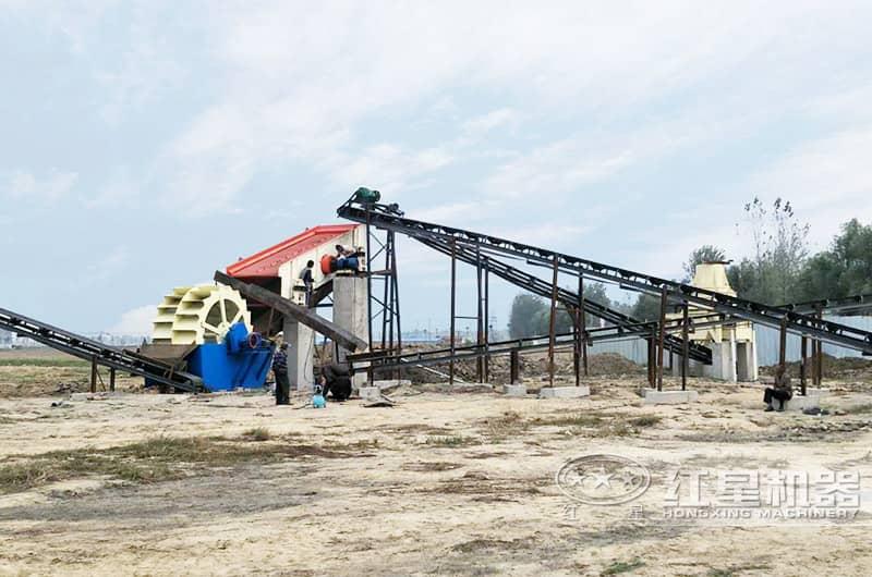 小型石子制砂机生产现场图片