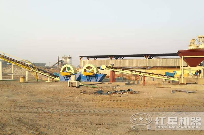 红星赞比亚客户洗砂现场