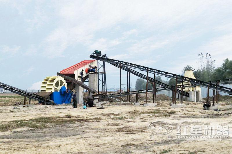 安徽客户小型制砂生产线工艺流图