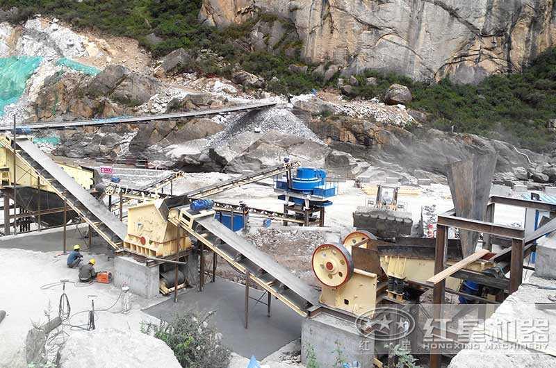 山西客户煤矸石制砂生产线图片