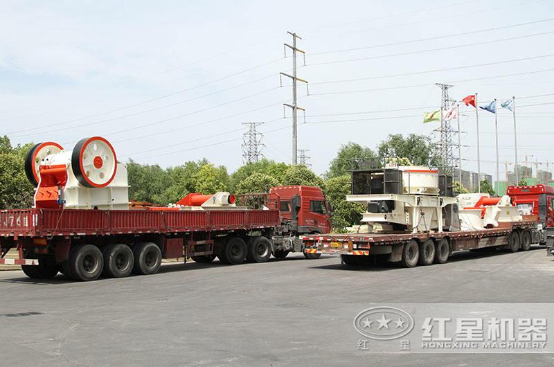 全套制砂生产线设备发货