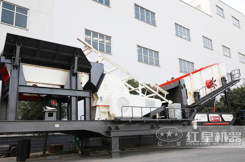 移动式粉石头的粉碎机,搭配重锤式破碎机