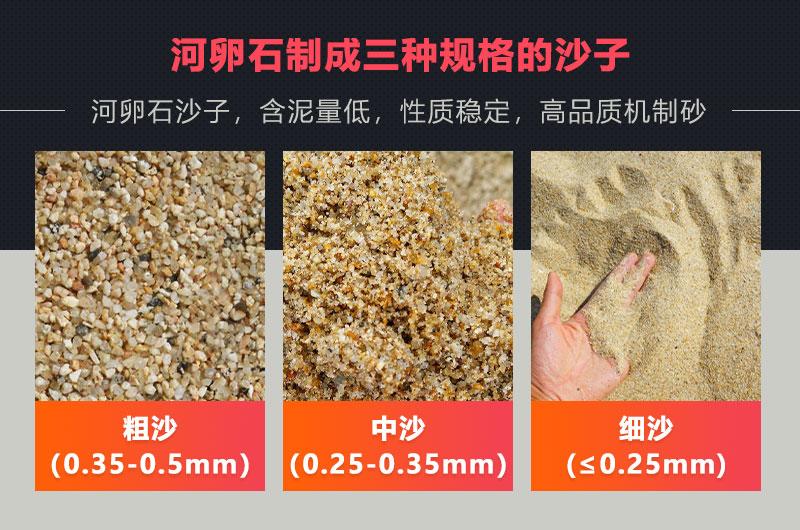 河卵石制沙成品