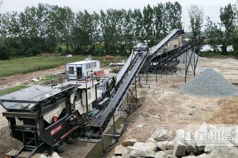 移动式石子生产线现场