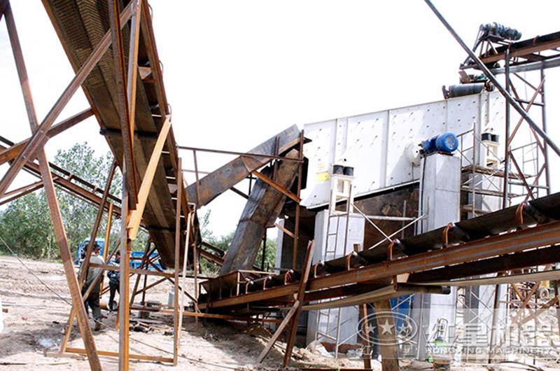 芜湖时产100吨花岗岩破碎生产线现场