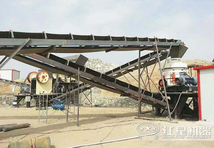 内蒙时产150吨石料生产线