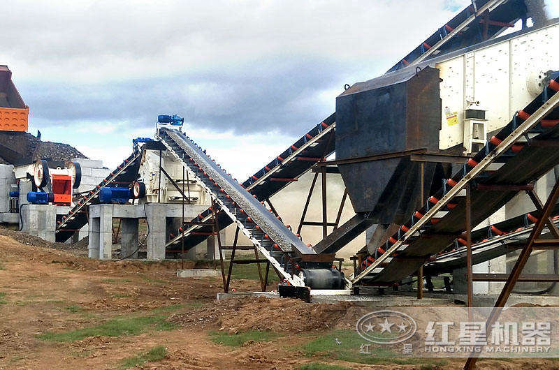 大型石料生产线设备现场