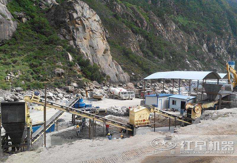 大型碎沙生产线设备现场