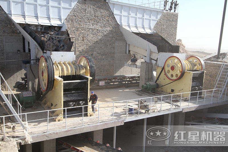 大型砂石厂设备现场