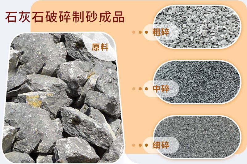 石灰石破碎制砂成品展示
