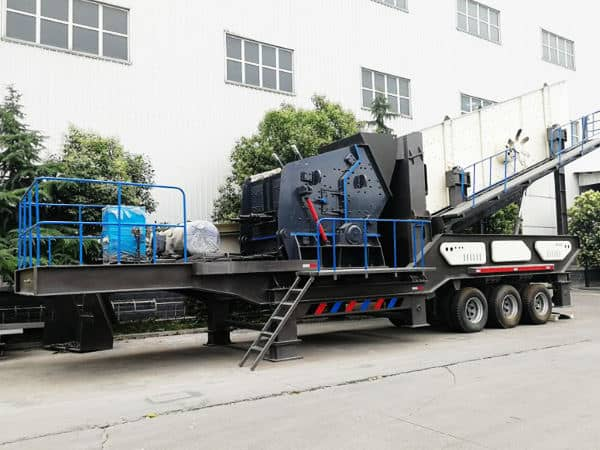 时产100吨移动式粉石头的粉碎机价格多少?